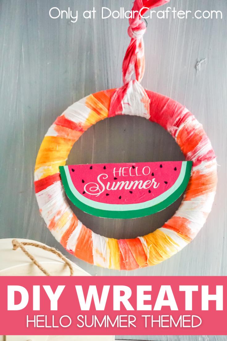 Hello Summer Watermelon Wreath