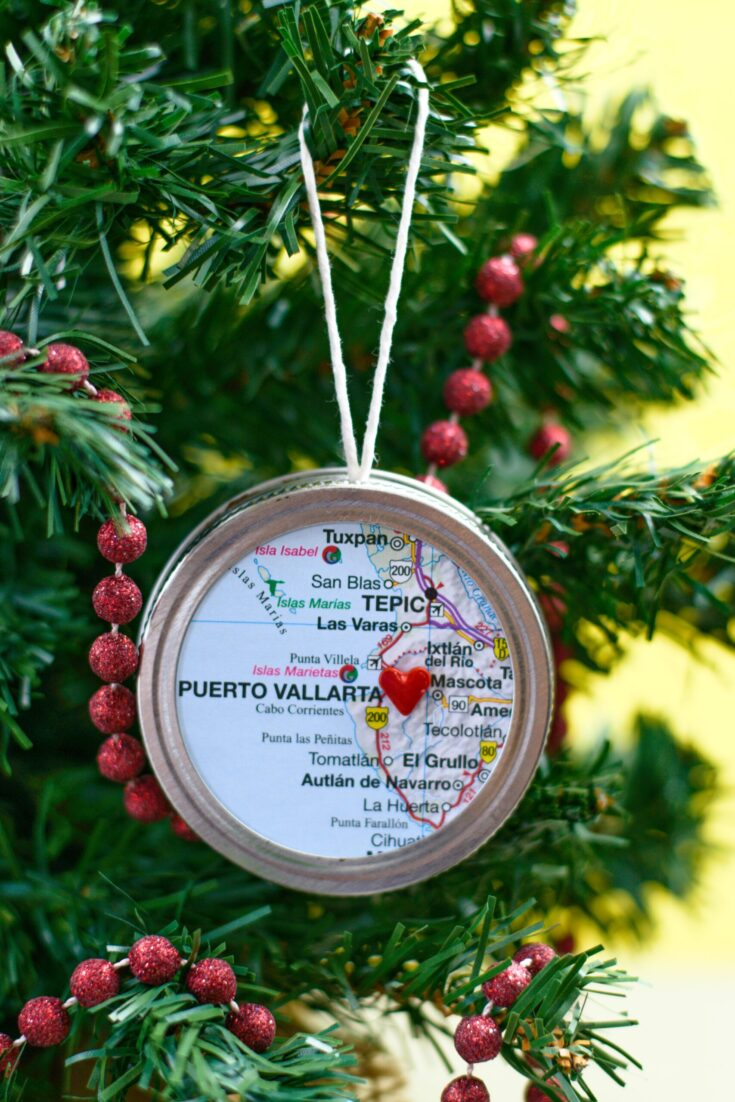 how to make map ornaments