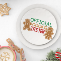Official Cookie Taster SVG Cut File Set for Cricut or Silhouette
