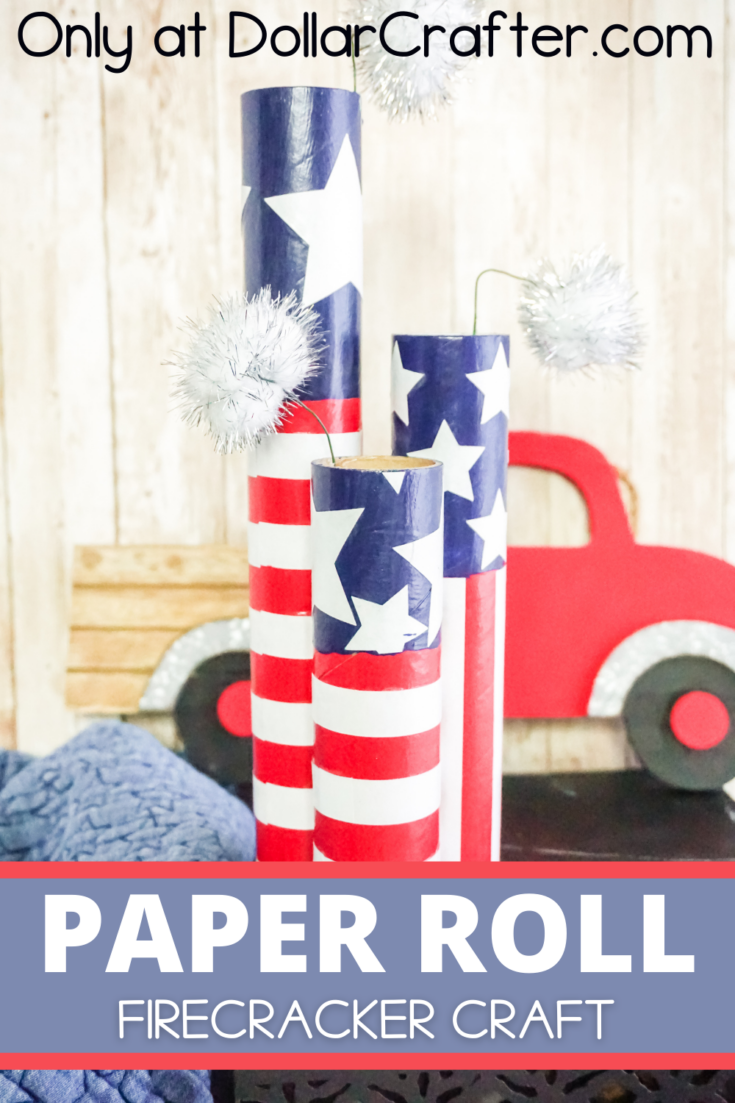 Paper Roll Firecracker Cricut Craft