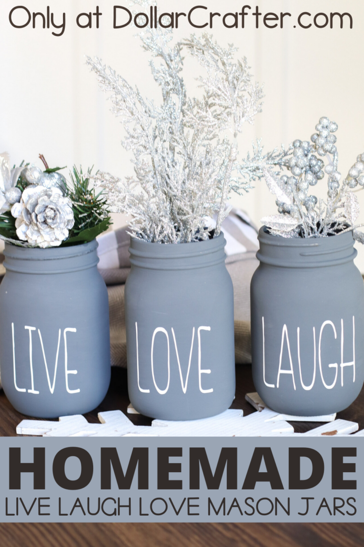 Live Laugh Love Mason Jars