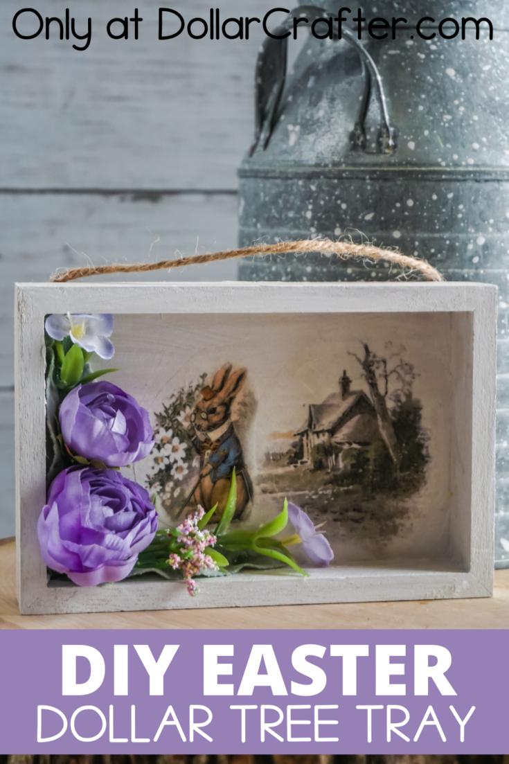 Easter Dollar Tree Farmhouse Tray