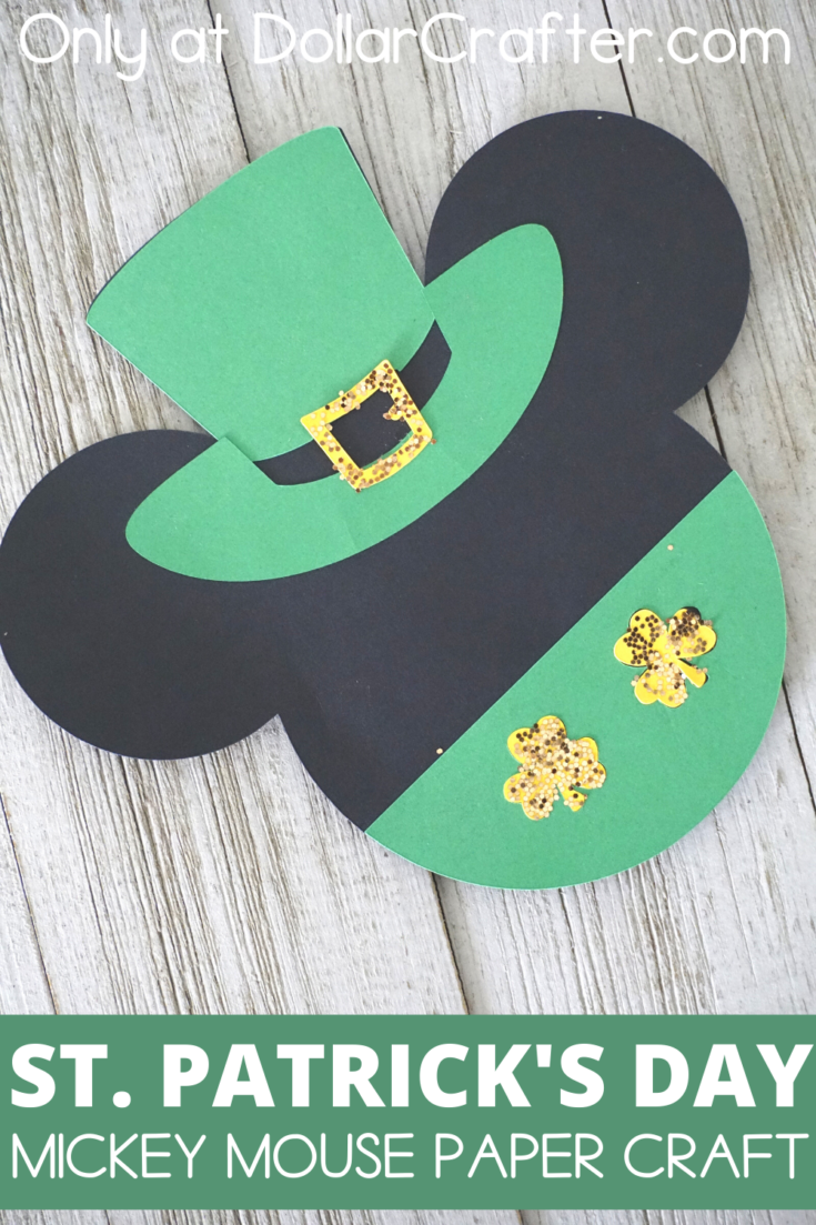 St. Patrick's Day Mickey Mouse Paper Craft
