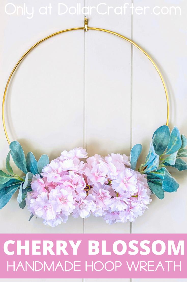 Cherry Blossom Hoop Wreath