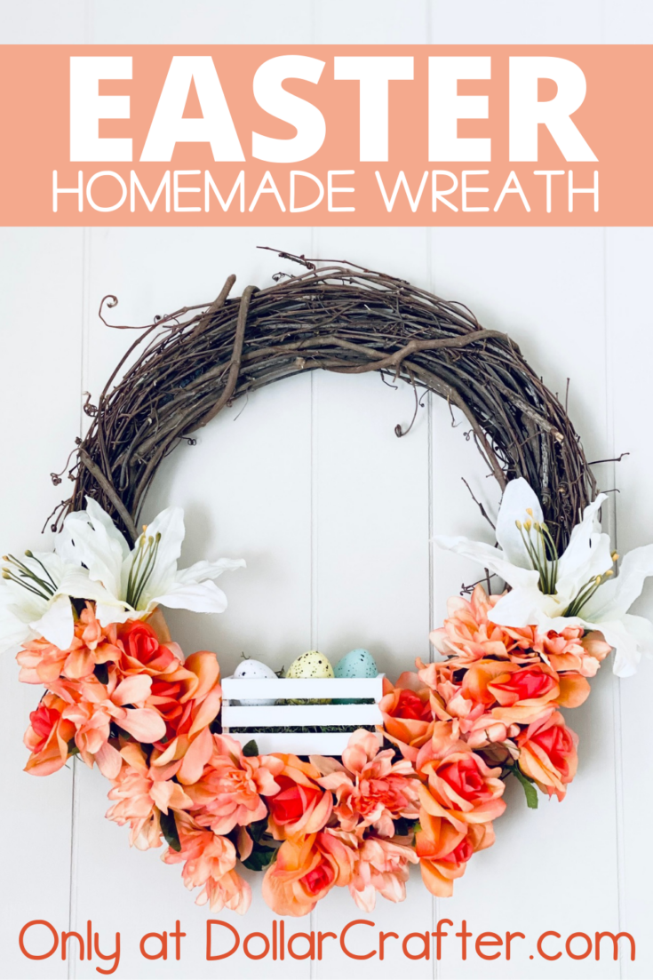 Easter Lilly Grapevine Wreath