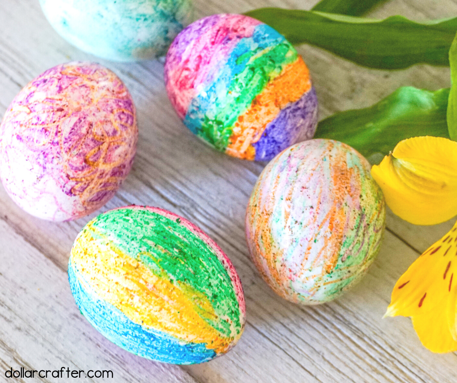 melted crayon eggs, Easy Easter Crafts for kids