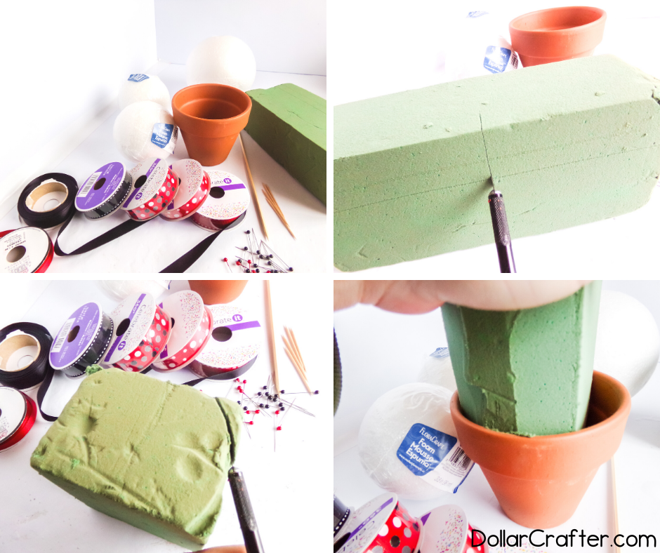 craft foam for making topiary