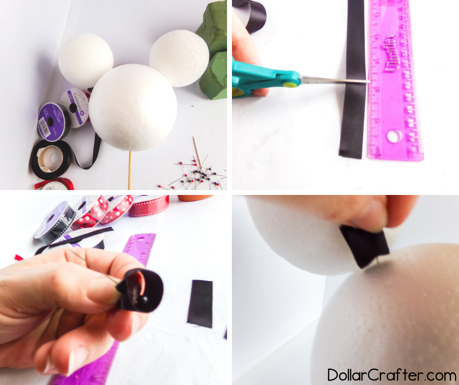 how to make a ribbon topiary