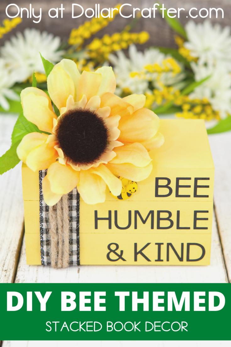 Bee Humble & Kind Stacked Books