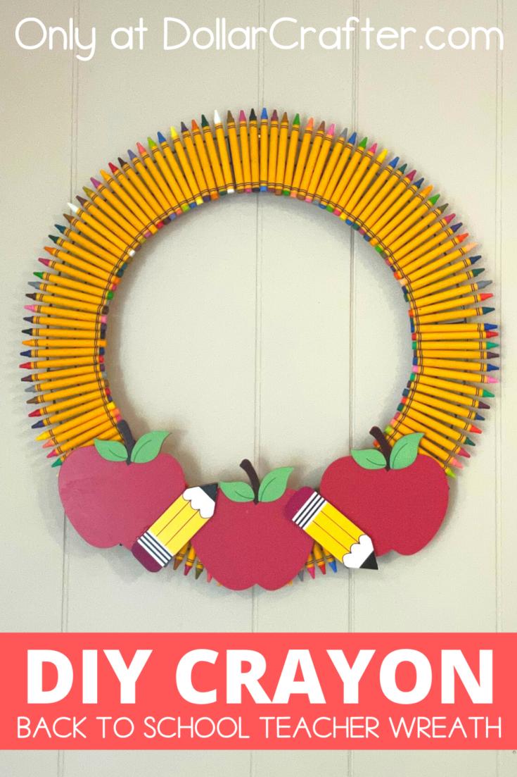 Back to School Crayon Wreath