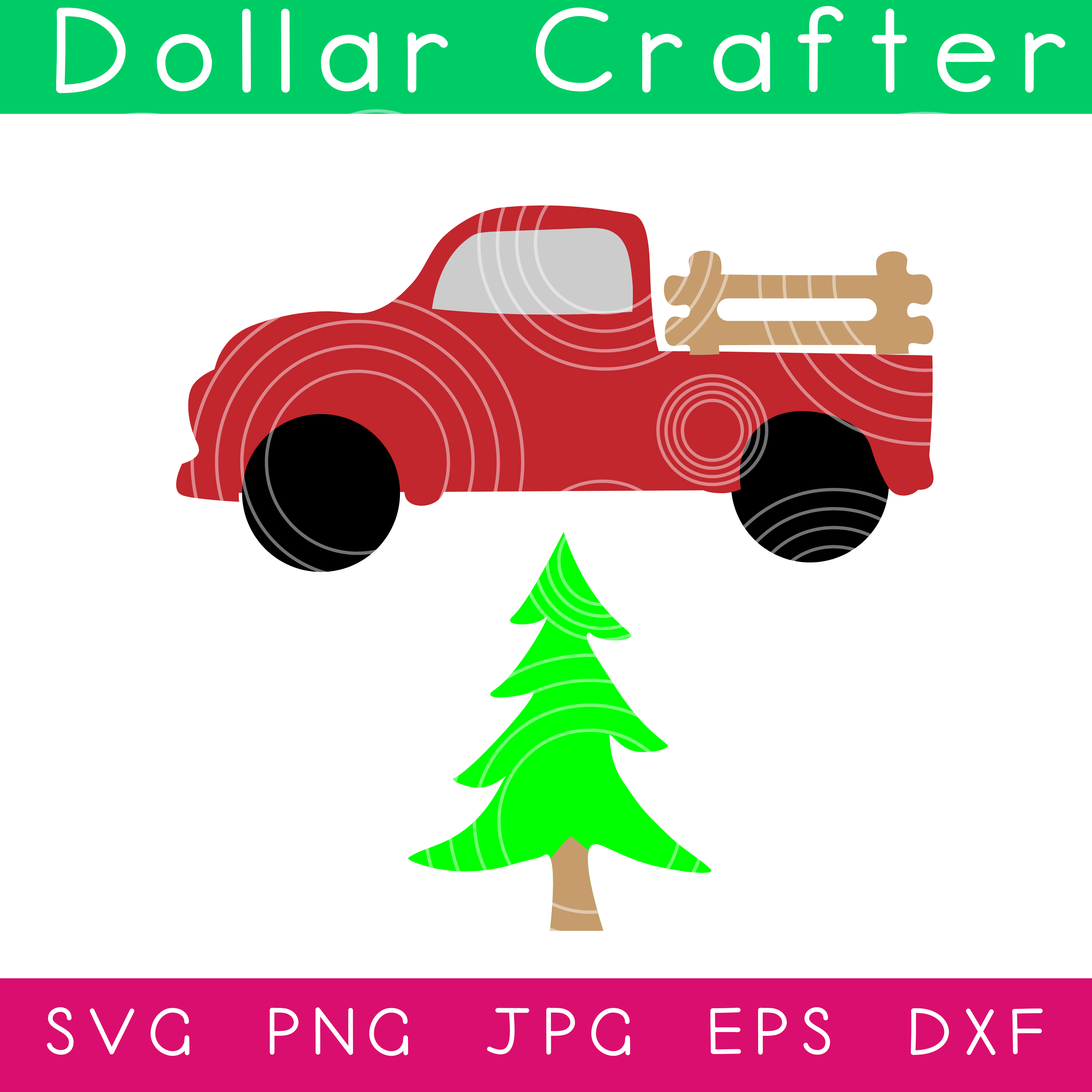 Christmas Truck SVG Cut File Set for Cricut or Silhouette