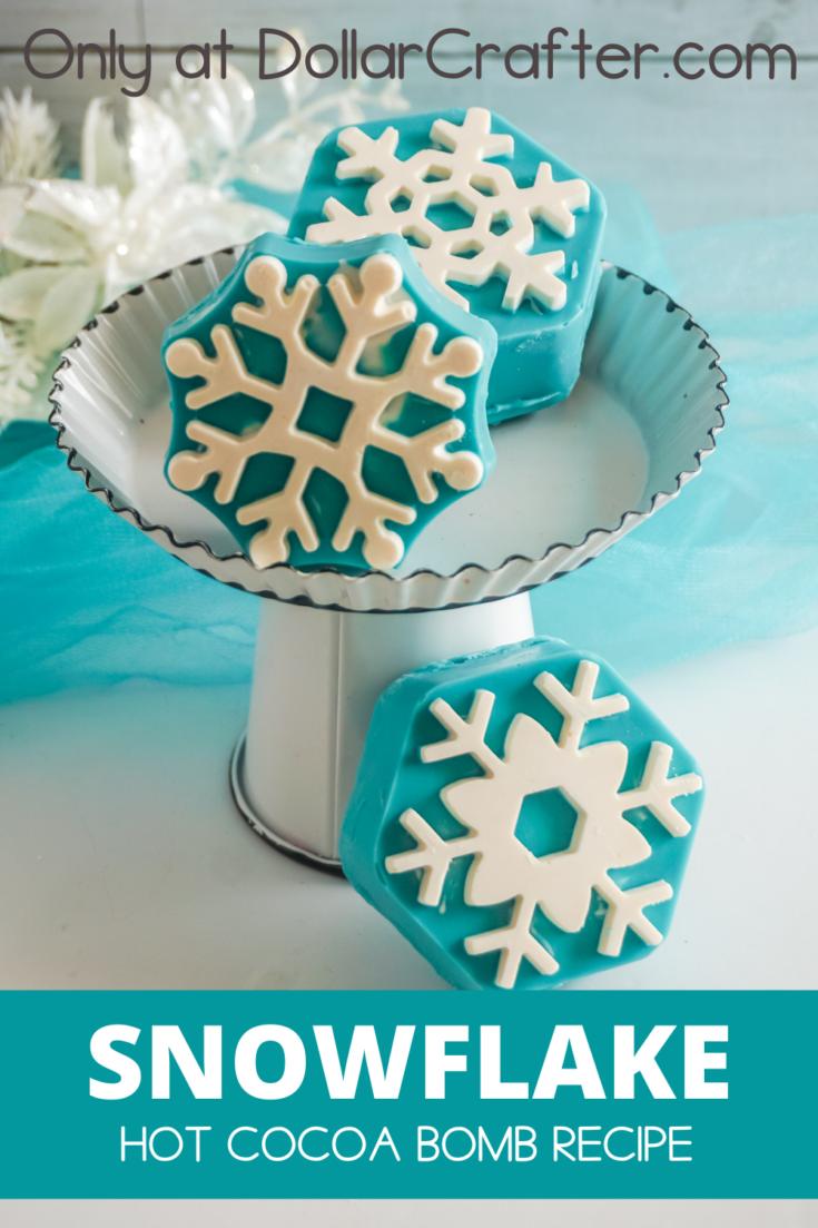 Snowflake Hot Cocoa Bombs