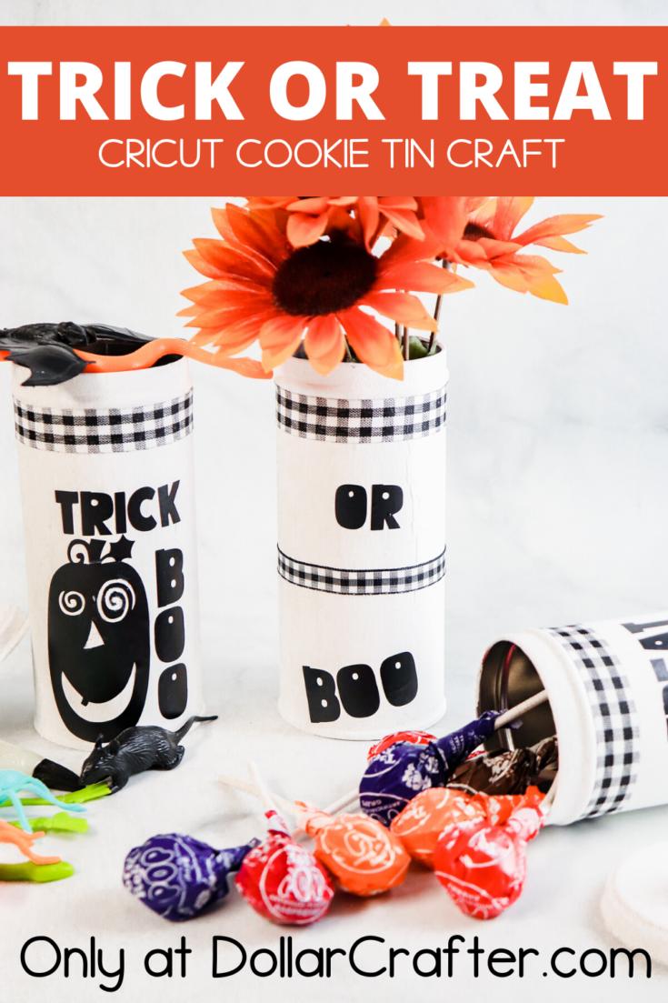 Cricut Trick or Treat Halloween Tins