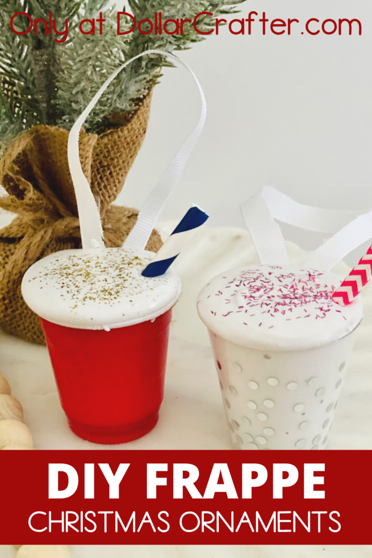 Christmas Frappe Coffee Cup Ornaments