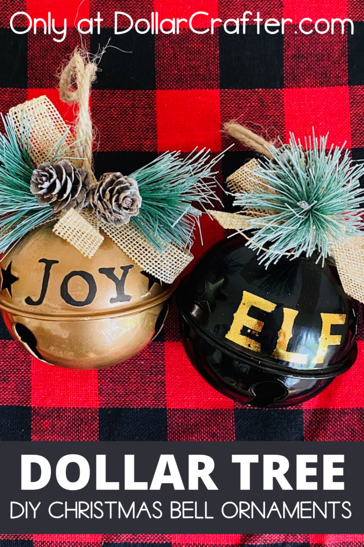 Dollar Tree Christmas Bell Ornaments