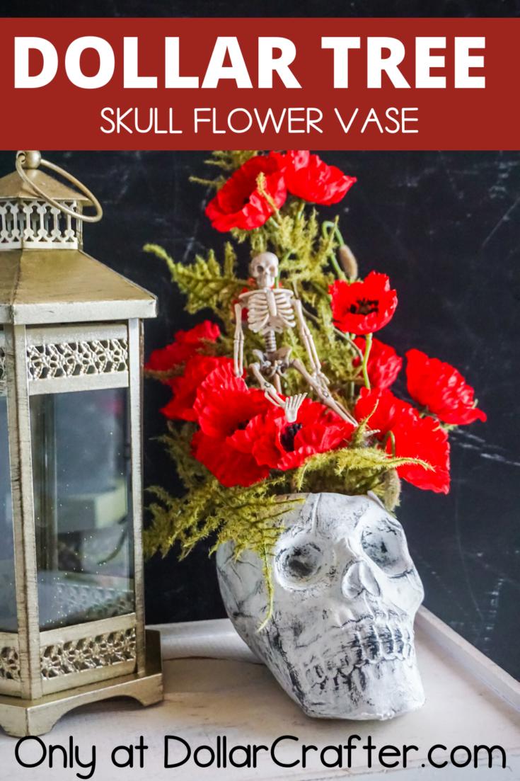 Skull Flower Vase
