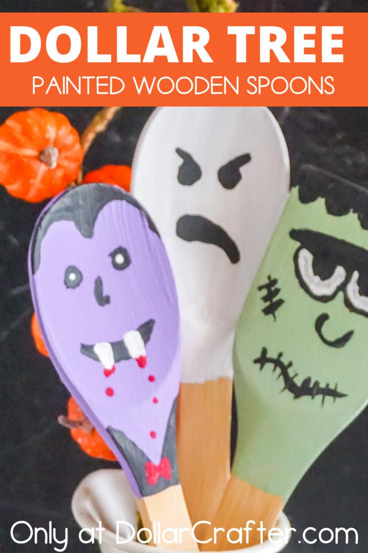 Halloween Painted Wooden Spoons