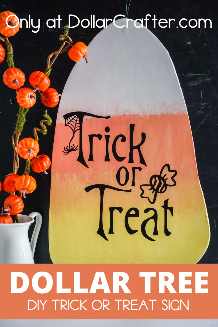 Candy Corn Trick or Treat Sign